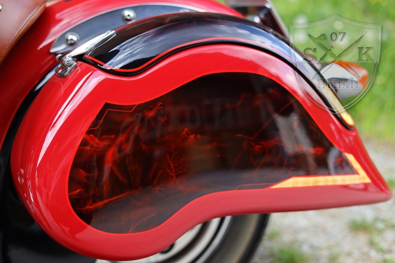 Airbrush-Candy-Red-Indian-Chief-Bike