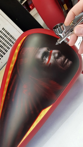 Airbrush-Candy-Red-Indian-Chief-Bike5