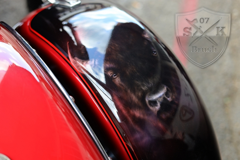 Airbrush-Candy-Red-Indian-Chief-Bike3