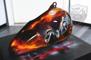 ACDC Airbrush Harley Davidson Tank