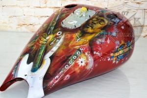 Airbrush Harley Davidson Jimi Hendrix Aquarell
