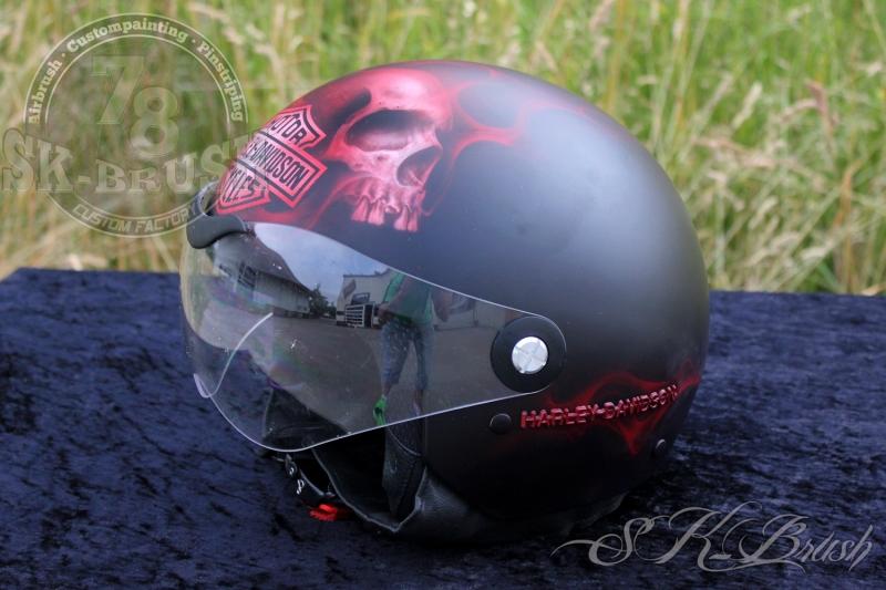 Airbrush-Helmet-Harley