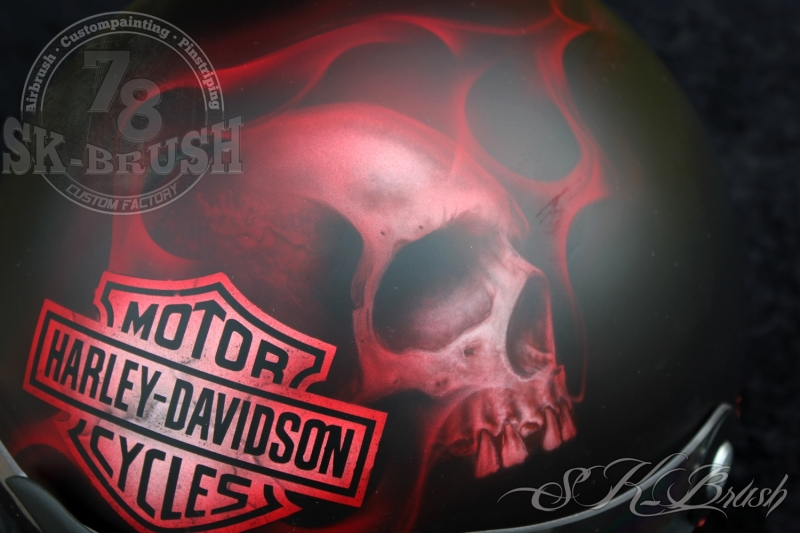 Airbrush-Helmet-Harley1