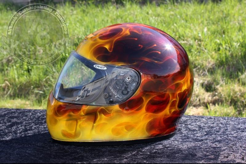 Airbrush-Helmet-true-fire