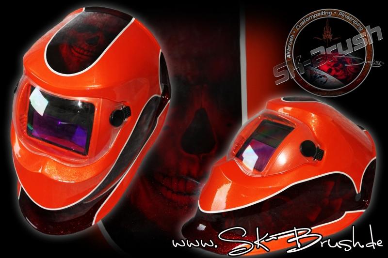 Airbrush-welding-helmet-Skull-RED