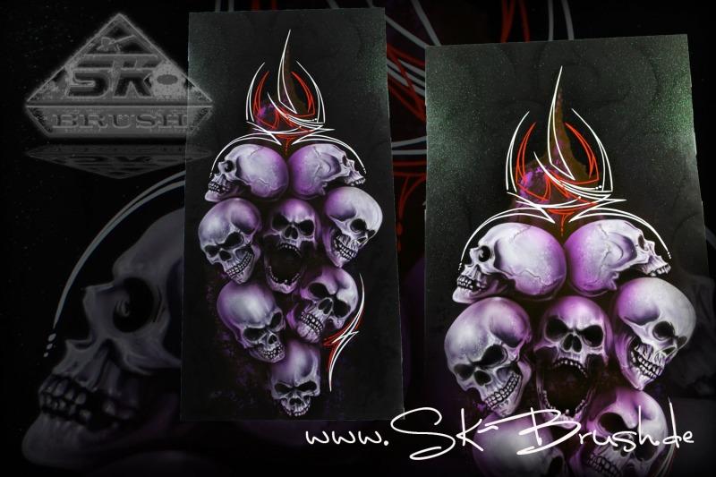 Airbrush-Platte-Skulls