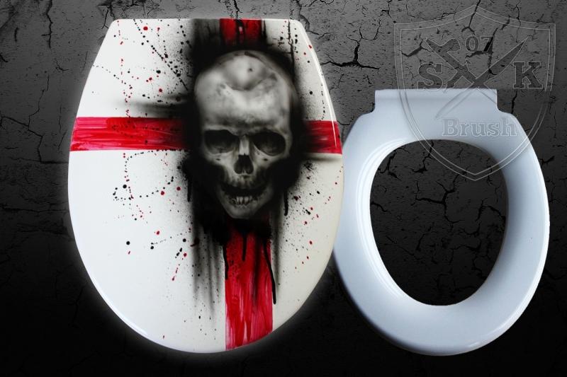 Airbrush-WC-Sitz-Skull-BadRed