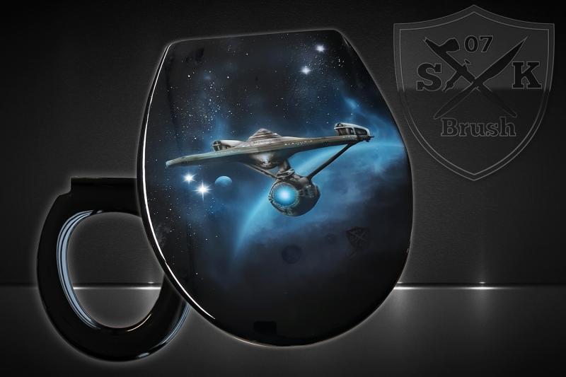Airbrush-WC-Sitz-Star-Trek