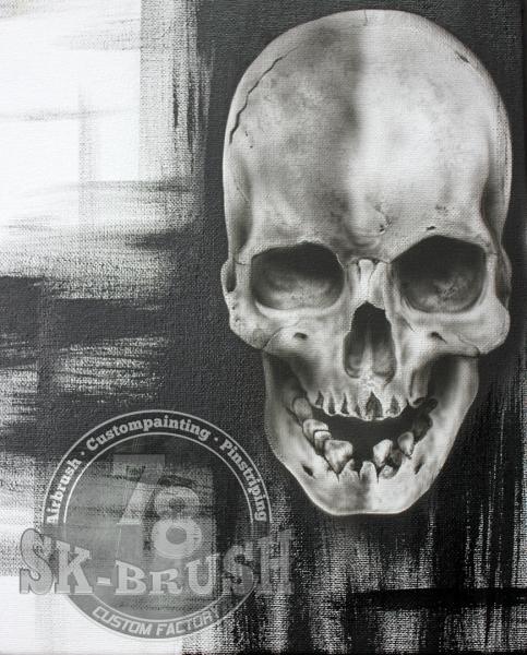 Skull-Canvas-Black