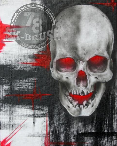 Skull-Canvas-BlackRed