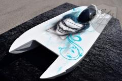 Airbrush-Schnellboot-Modell