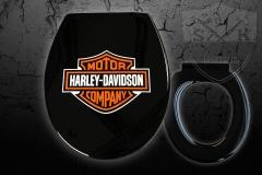 Airbrush-WC-Sitz-Harley