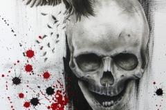 Skull-Crow-Canvas