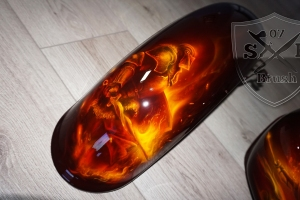 Dragon Knight Harley Davidson Airbrush