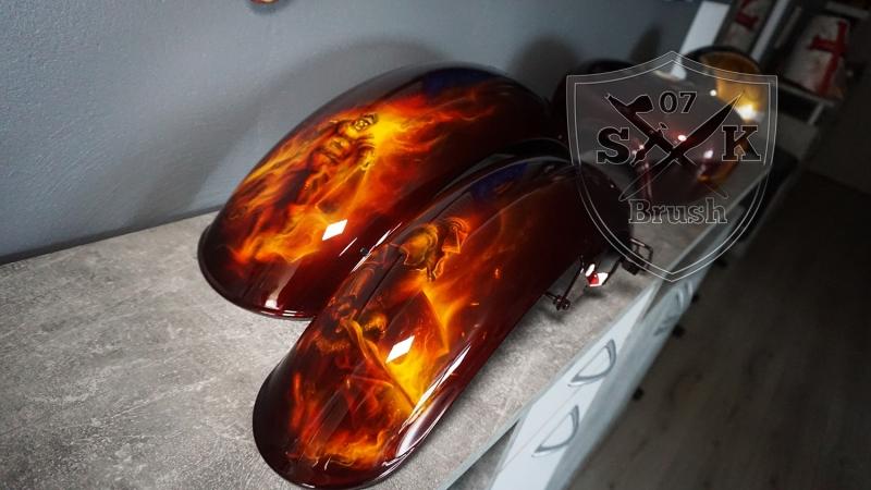 Harley-Davidson-Airbrush-Dragon-Fire-Komplett-Fender1