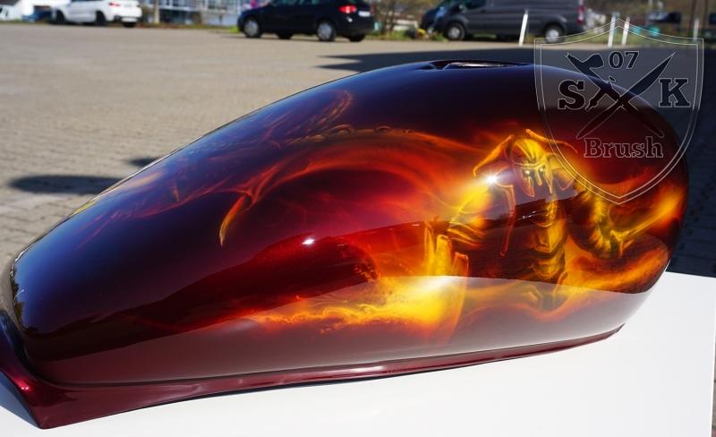 Harley-Davidson-Airbrush-Dragon-Fire1