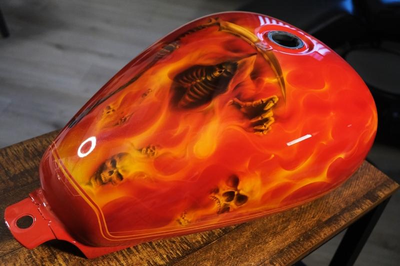 Grim-Reaper-fire-airbrush-chopper-bike