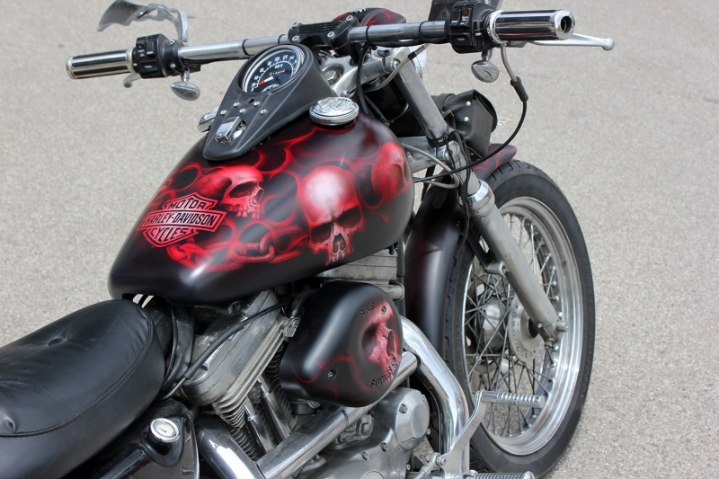 airbrush-harley-davidson-skulls-matt