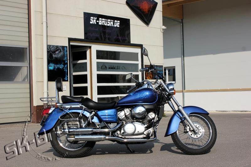 honda-shadow-airbrush-custompaint-lackierung-design-candy-blue-flames-maske-1