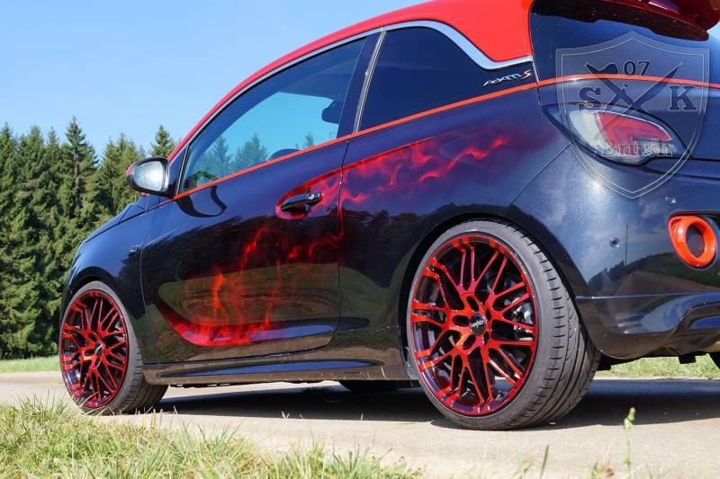 Opel-Adam-S-Airbrush-red-flames1Mini
