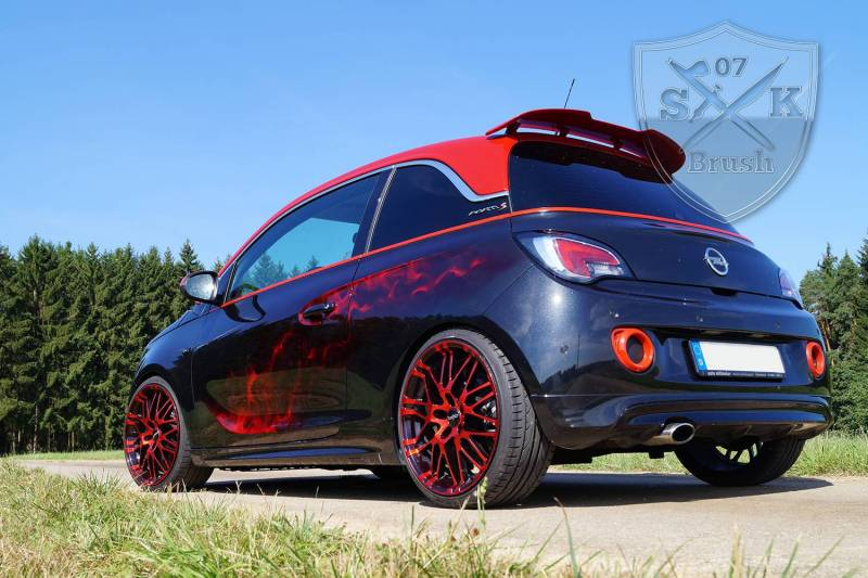 Opel-Adam-S-Airbrush-red-flames2Mini