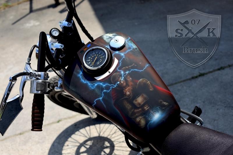 Airbrush-Motorrad-Thor-Bike