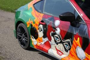Toyota GT86 Joker Comic Style
